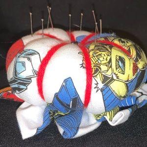 Handmade Transformers pincushion